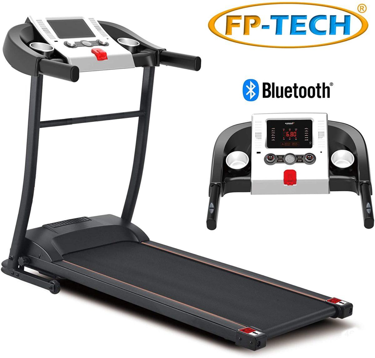 Tapis roulant électrique 1 HP 1000 W Top de gamme avec Bluetooth ED App Lecteur MP3 et USB